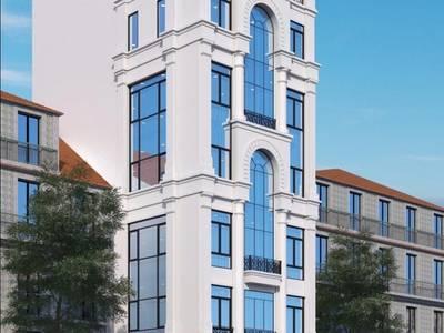 Bán tòa nhà VP hai mặt đường 9 tầng mặt phố Hoàng Ngân. Giá= 58tỷ 0