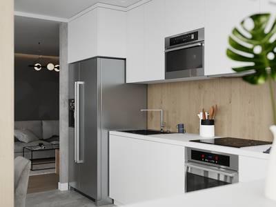 Tủ Bếp MDF Màu Trắng Giá Rẻ - Thi Công Tủ Bếp Gỗ Công Nghiệp 2