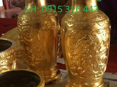 Đồ thờ dát vàng 24k - Không gian phòng thờ đẹp 1