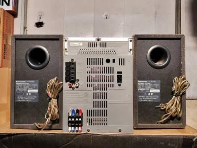 Dàn mini Nhật Panasonic SB-PM57 điện 110V, hàng bãi xịn, bao check 7
