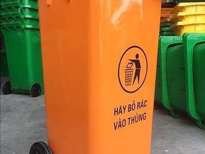 Thùng đựng rác công cộng 120L, thùng rác 2 bánh xe, thùng rác nhựa HDPE 120 Lít 0