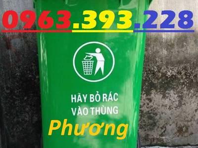 Thùng đựng rác công cộng 120L, thùng rác 2 bánh xe, thùng rác nhựa HDPE 120 Lít 2