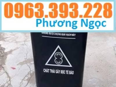 Thùng đựng rác công cộng 120L, thùng rác 2 bánh xe, thùng rác nhựa HDPE 120 Lít 3