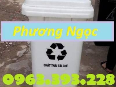Thùng đựng rác công cộng 120L, thùng rác 2 bánh xe, thùng rác nhựa HDPE 120 Lít 4