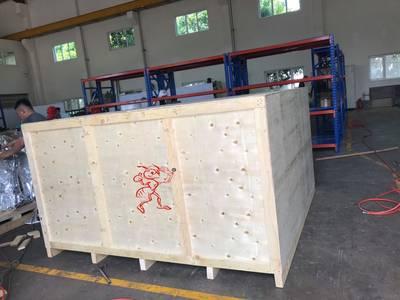 Đóng Kiện gỗ cho máy móc tại kcn Đông Xuyên 0