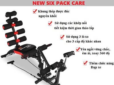 Thanh lý máy tập Máy Tập Cơ Bụng New Six Pack Care Có Đạp Xe 0