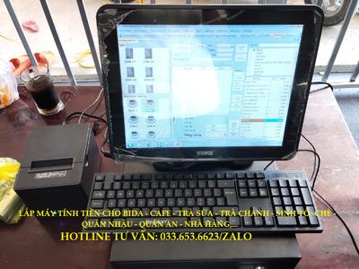Máy tính tiền cho mô hình bida, cafe, trà sữa tại Vũng Tàu 0