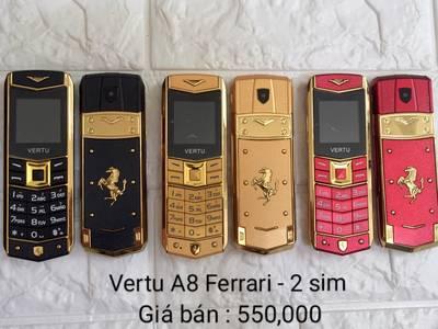 Điện thoại Vertu A8 dùng 2 sim,lịch lãm,đẳng cấp và sang trọng giá 790.000. LH 0909459649 0