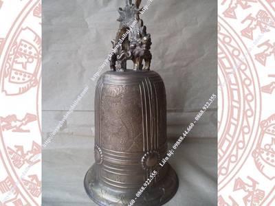 Chuông đồng vàng màu cổ CDV05 Đồng Đại Bái 0