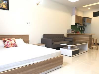 Căn hộ đường Lê Thanh Nghị, 50m2, có phòng ngủ riêng, có thang máy, full nội thất, giá chỉ 6tr/th 3