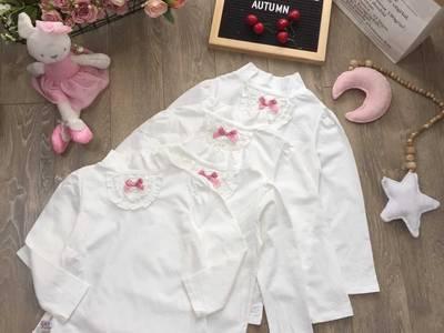 Áo cotton dài tay bé trai và bé gái mẫu mới 17