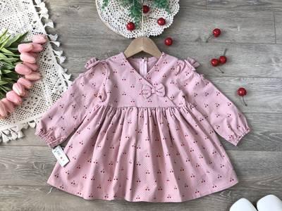 Váy thu babydoll dáng xòe bé gái 4