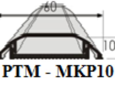 Nẹp bán nguyệt- Nẹp luồn dây điện MKP10 0