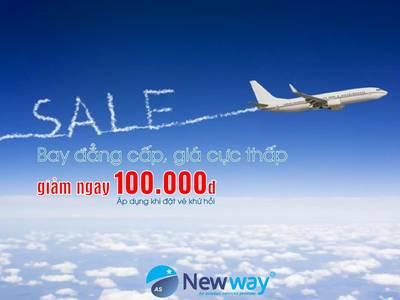 Đặt vé giá rẻ hôm nay cùng Đại lý vé máy bay New Way 0