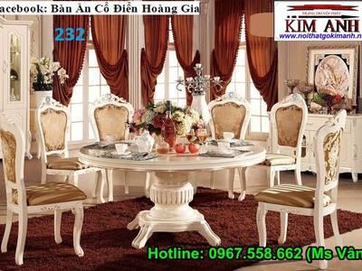 Bộ bàn ghế ăn tân cổ điển - bàn ăn cổ điển phong cách sang trọng châu âu 8