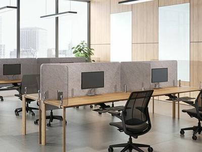 Vách ngăn kính bàn làm việc chuyên nghiệp, hiện đại 2