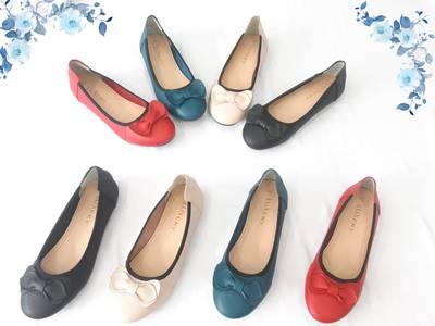Giày búp bê da mềm đính nơ 2405/1 5