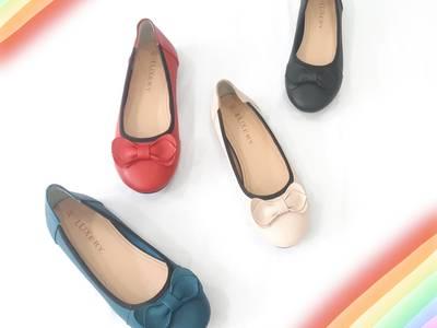 Giày búp bê da mềm đính nơ 2405/1 6