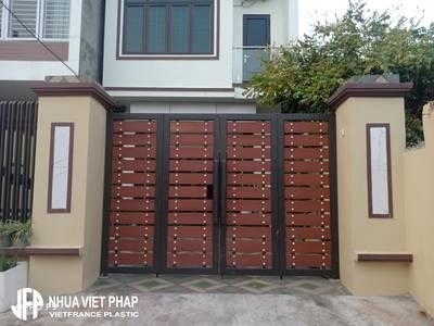 Xu hướng 2021 Làm cổng bằng gỗ nhựa wpc Nhựa Việt Pháp 0