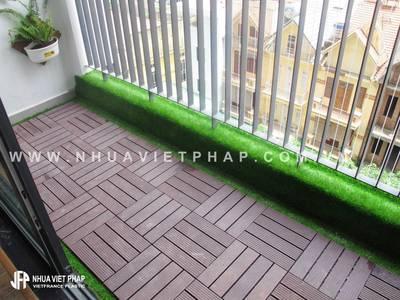 Vỉ gỗ nhựa lát sàn ban công Nhựa Việt Pháp 0