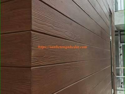 Ốp tường gỗ chịu nước bằng gỗ nhân tạo Smartwood Thái Lan 4