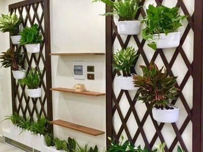 Trang trí ban công bằng gỗ nhựa Việt Pháp 3