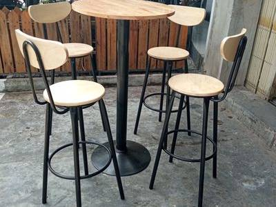Bộ bàn ghế bar 4 ghế cao 0