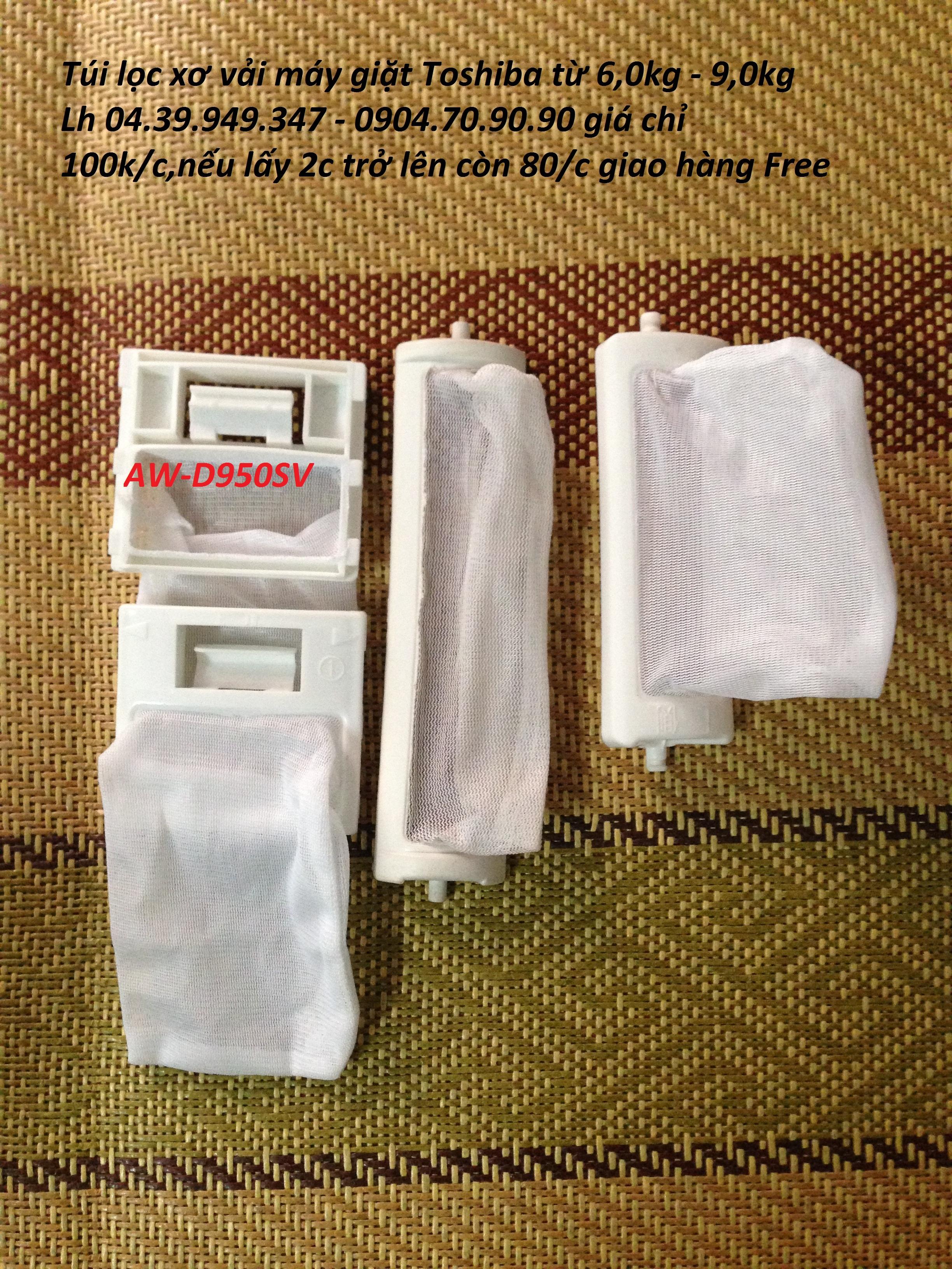 2 Túi lọc máy giặt ,túi lọc rác cặn bẩn Sanyo,Toshiba,LG,Panasonic,Daewoo
