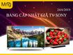 Siêu thị điện máy Mạnh Nguyễn  Cập nhật bảng giá Tivi Sony, ngày 24/6/2019