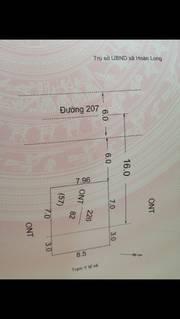 Bán đất mặt đường 207 xã hoàn long huyện yên  mỹ tỉnh hưng yên