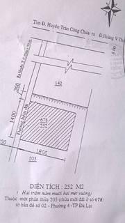 Bán đất đường Huyền Trân Công Chúa,P4, TP. Đà Lạt, diện tích 2509m2