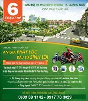 Đất nền ngay trung tâm Tp Quảng Ngãi - tiện ích đầy đủ, giá 6tr/m2