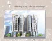 Cho thuê căn hộ Kiến Thành  Quận 6, DT : 70 m2, 2PN, Giá : 6 tr/th