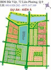 Bán đất nền dự án KDC Kiến Á - Phước Long B,Quận 9, lô nhà phố sổ đỏ riêng chính chủ