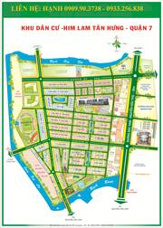 Bán đất biệt thự 10x20 Him Lam Kênh Tẻ đường 16m giá 85T/m2