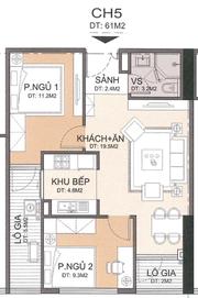 Chung cư A10 Nam Trung Yên căn hộ 2 phòng ngủ 61m2 suất ngoại giao giá 26,8 triệu/m2