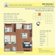 Bán căn hộ 3 phòng ngủ chung cư udic 122 vĩnh tuy. Diện tích: 88,3m2.