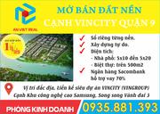 Bán đất nền đường Nguyễn Xiển - Lò Lu quận 9, cạnh Vincity, DT: 50m2 - 500m2, Giá chỉ từ 1 tỷ/nền