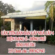 Chính chủ cần tiền bán gấp nhà cấp 4 hiện đang ở Đồng Phú- Bình Phước