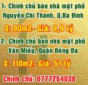Chính chủ bán nhà tầng 1 mặt phố Nguyễn Chí Thanh, Quận Ba Đình, Hà Nội.