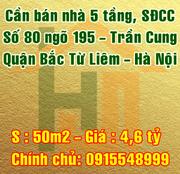 Cần bán nhà số 80, ngõ 195 Trần Cung, Phường Cổ Nhuế 1, Bắc Từ Liêm, Hà nội