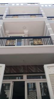 Nhà mới , 3,5x14 ,DTSD 140m2  Sổ Hồng Riêng   1 trệt , 2 lầu , sân thượng , 4pn lớn , 3wc