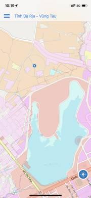 Bán đất gần bờ hồ Xuyên Mộc, cách đường vành đai hồ khoảng 200m. Tổng diện tích 6000m2