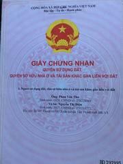 Bán Đất Thổ Cư Gần Nhà Thờ Thanh Phong, Phường Mỹ Xuân, TX. Phú Mỹ