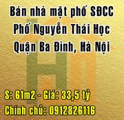 Chính chủ bán nhà mặt Phố Nguyễn Thái Học, Quận Ba Đình, Hà Nội