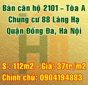 Bán căn chung cư 88 Láng hạ, Quận Đống Đa, Hà Nội.