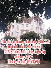 Chủ nhà bán nhà đẹp phân lô số 44 khu X2A, Tam Trinh, Hoàng Mai- Hà Nội