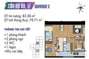 Hàng chủ đầu tư  Căn hộ số 17, DT 78m2 toà nhà Sapphire 3 chung cư Goldmark City