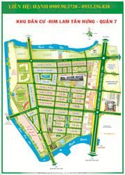 Bán đất nền nhà phố Him Lam đường số 14 giá 128T/m2