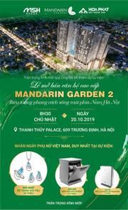 Chính chủ bán cắt lỗ gần 300tr căn hộ 83m2 2N2WC chung cư Mandarin Garden 2 Tập Đoàn Hoà Phát